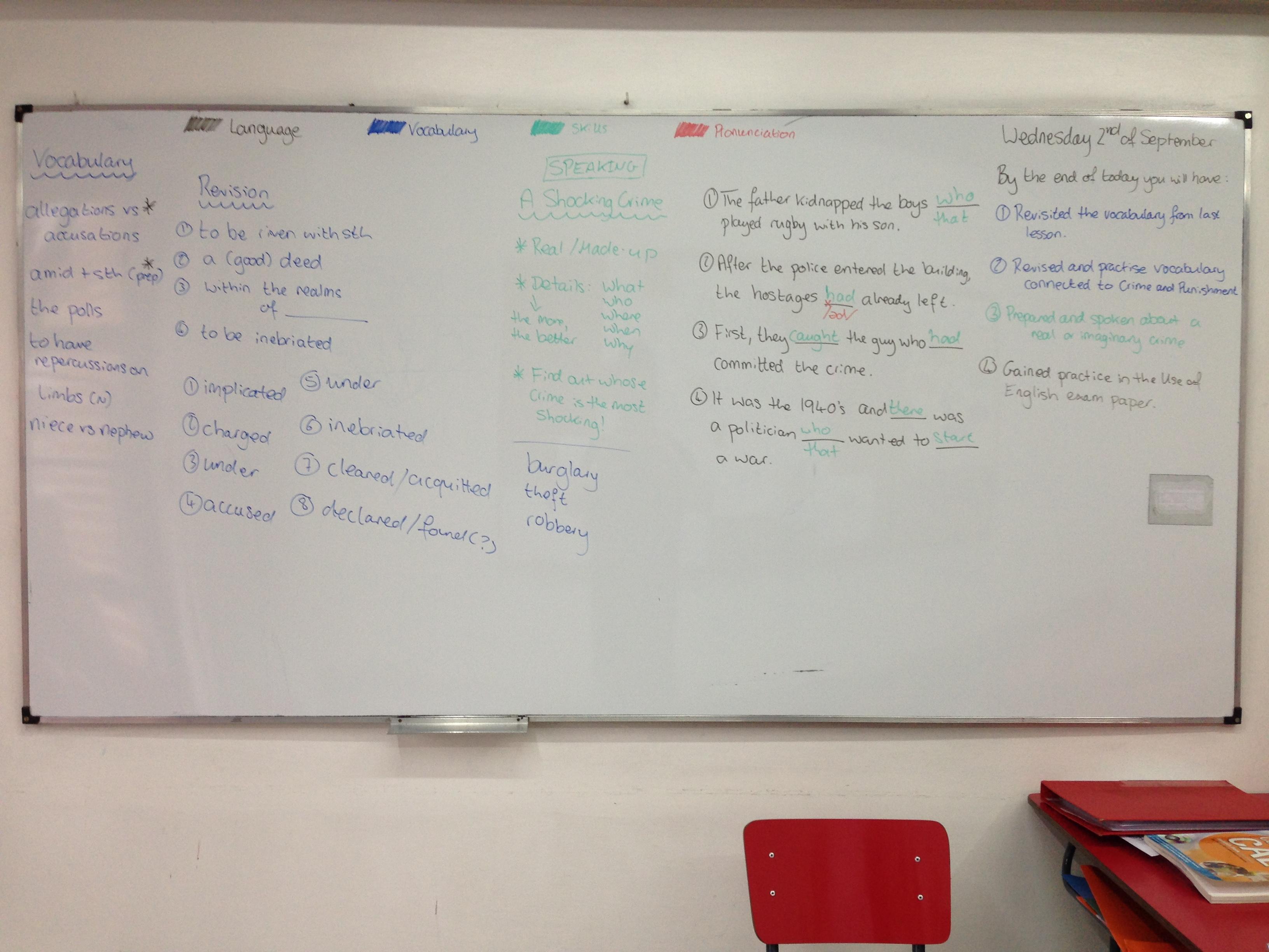 Topics for grammar???