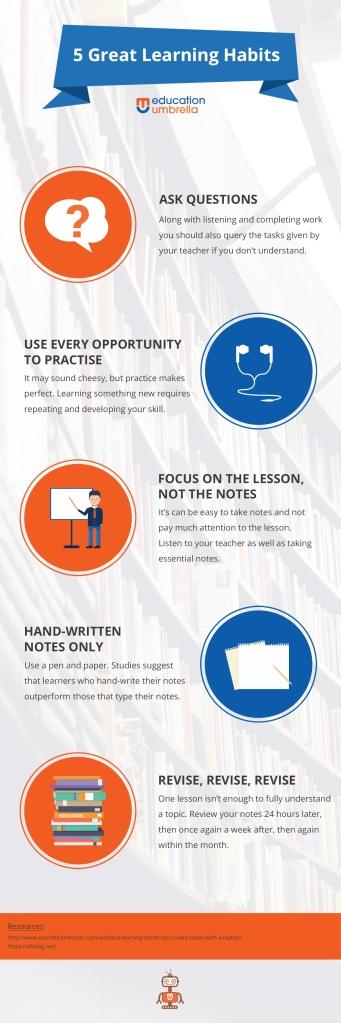 5 teaching habits INFOGRAPHIC